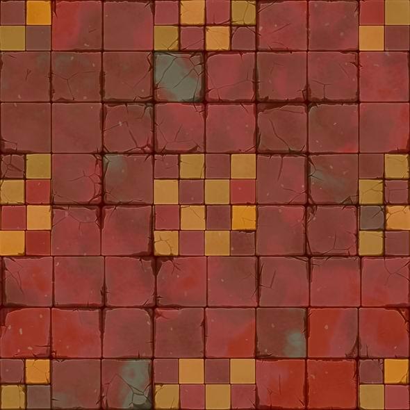 rot gelbe cartoon fliesen textur 001 bienenfisch design. Black Bedroom Furniture Sets. Home Design Ideas